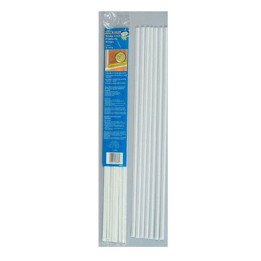 M-D Building Products 26 in. White Snap Lock Weatherstrip Framing ...