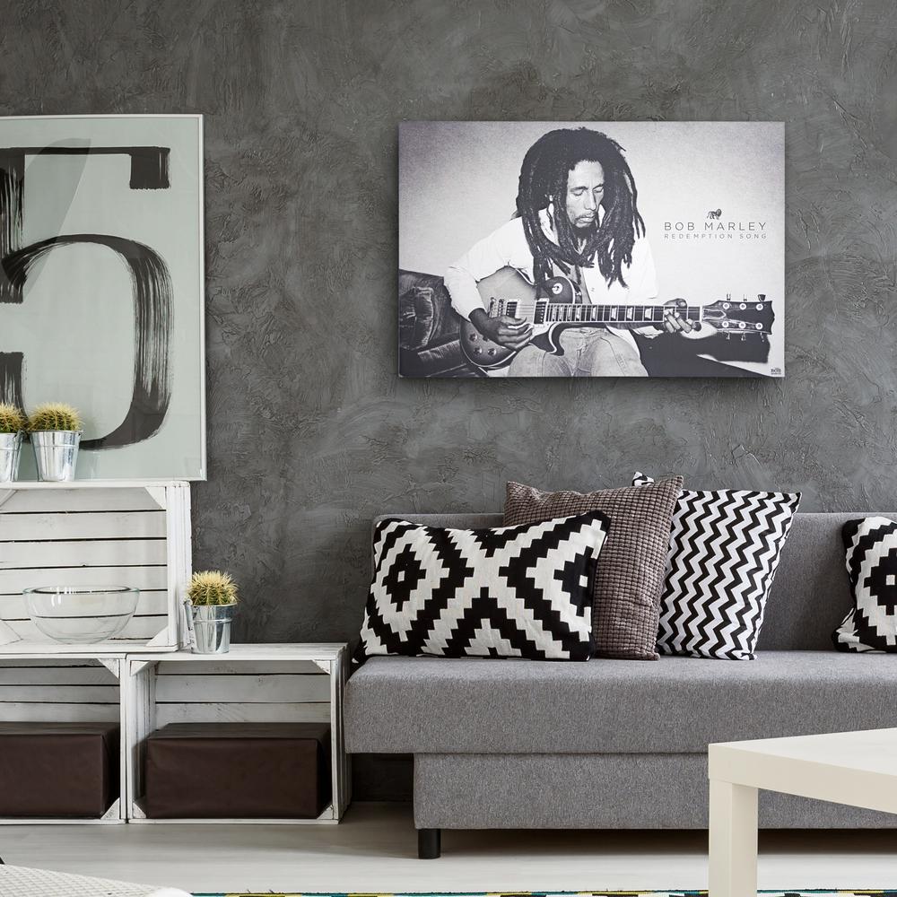 American Art Decor Licensed Bob Marley Redemption Song Black