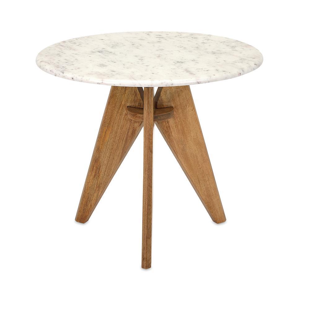 Febe White Stone Round Table