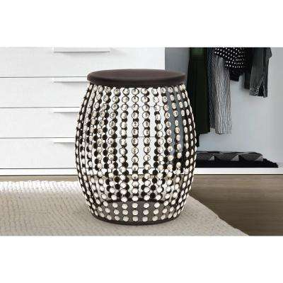 Beaded Black End Table