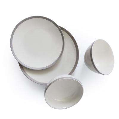 West Side 16-Piece White West Side Dinnerware Set