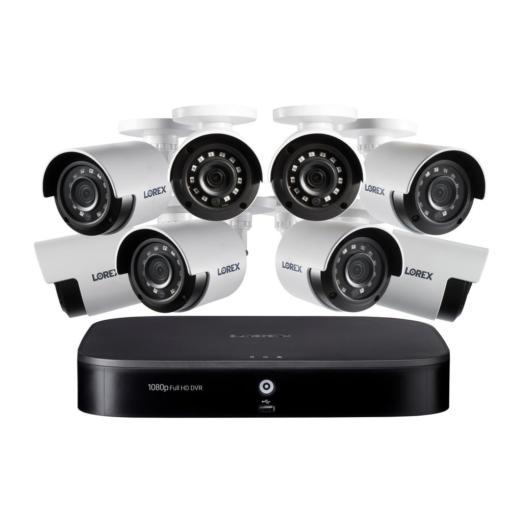 Lorex 8-Channel 1080p with DVR 1TB HDD Surveillance System and 8 Wired Cameras