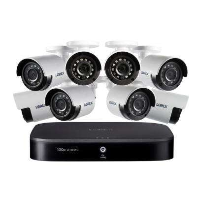 8-Channel 1080p with DVR 1TB HDD Surveillance System and 8 Wired Cameras
