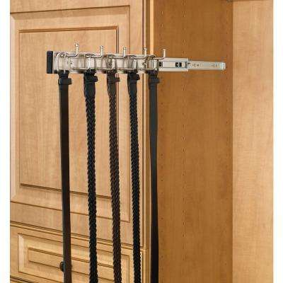 2.5 in. H x 2.5 in. W x 14 in. D Satin Nickel Pull-Out Belt Rack