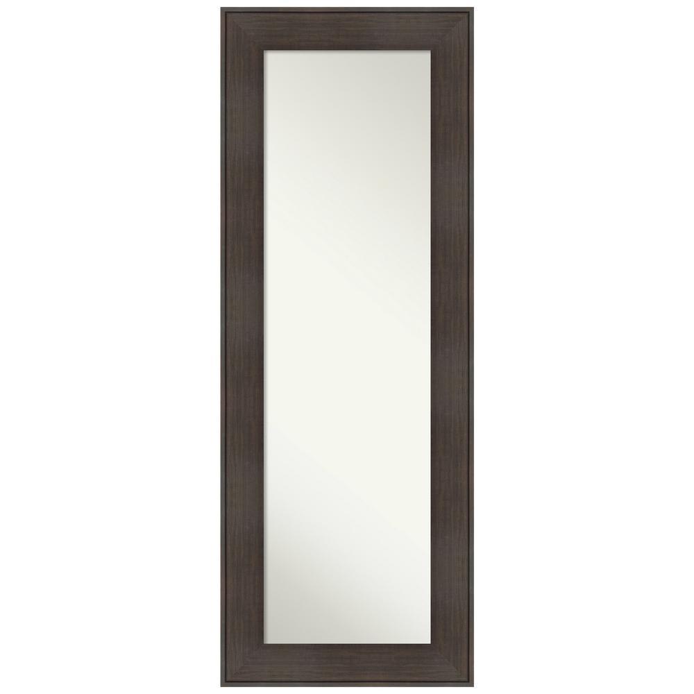 William Rustic Woodgrain 20.25 in. x 54.25 in. Rustic Rectangle Framed Brown On the Door Mirror