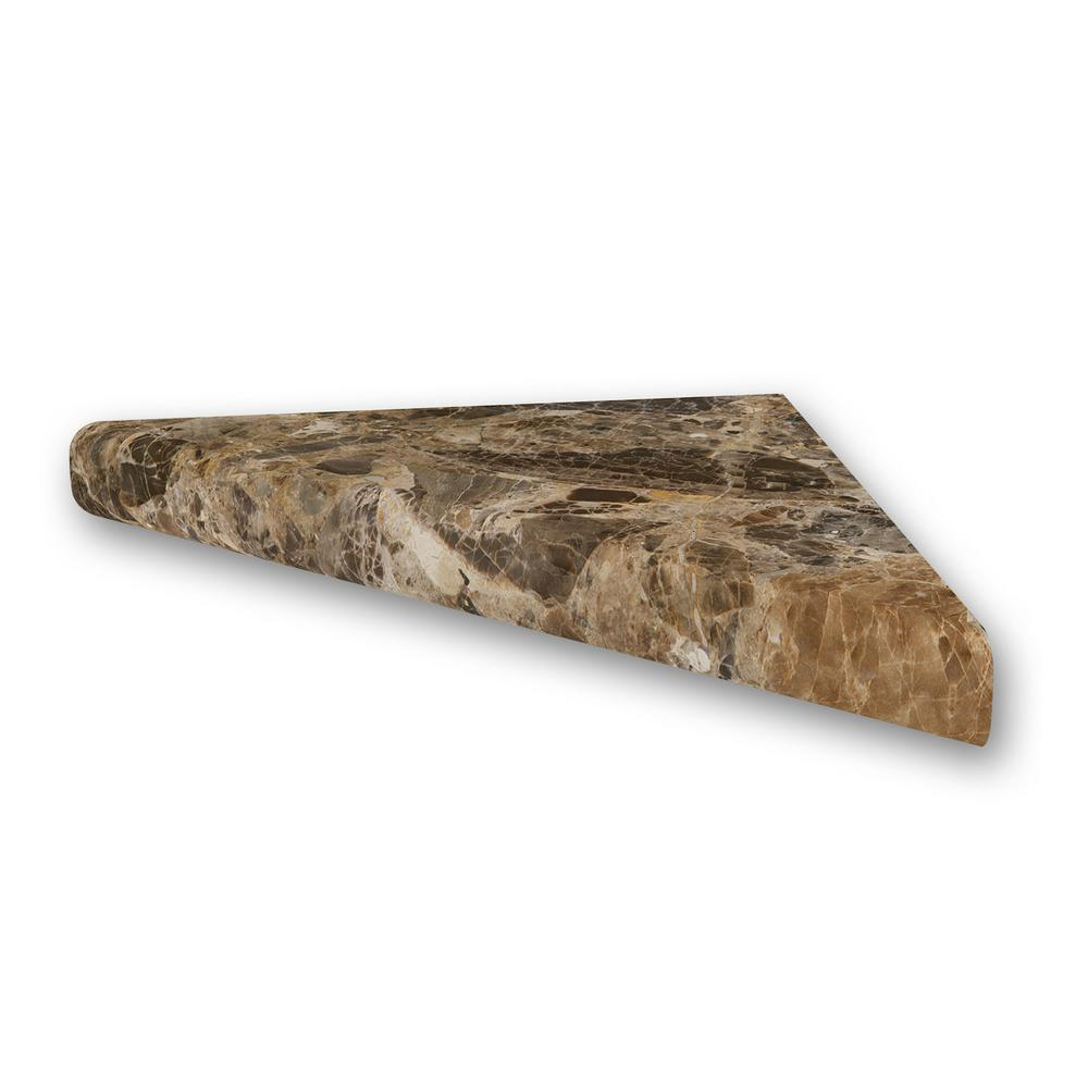 15 in. Corner Shelf Niche in Breccia Paradiso