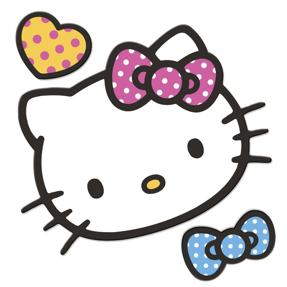 RoomMates Hello Kitty 5-Piece Foam Character Wall Decal