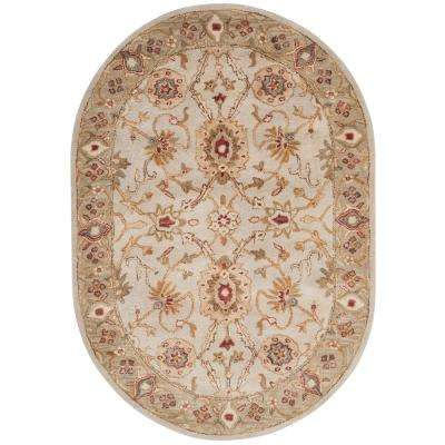 Antiquity Gray Beige/Sage 5 ft. x 7 ft. Oval Area Rug