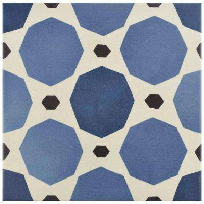 Caprice Colours Sapphire 7-7/8 in. x 7-7/8 in. Porcelain Floor and Wall Tile (11.46 sq. ft. / case)