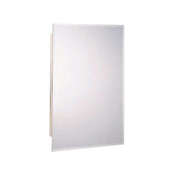 16 in. W x 25-7/8 in. H x 4-1/2 in. D Recessed or Surface Mount Frameless Beveled Bathroom Medicine Cabinet