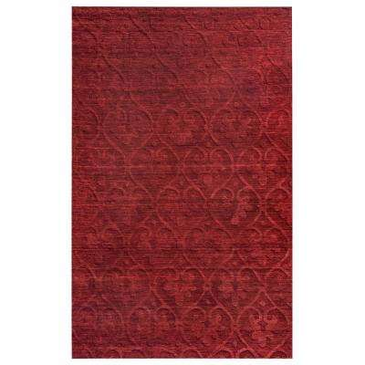 Technique Red Solid 9 ft. x 12 ft. Area Rug