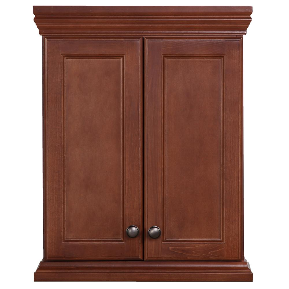 St paul brentwood 22 in w x 28 in h x 9 in d over the for Toilet furniture cabinet
