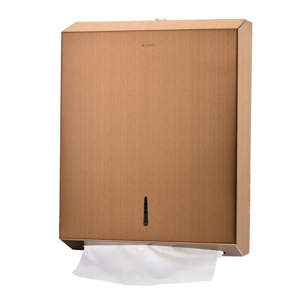 Copper Brushed Stainless Steel C-Fold/Multi-Fold Paper Towel Dispenser