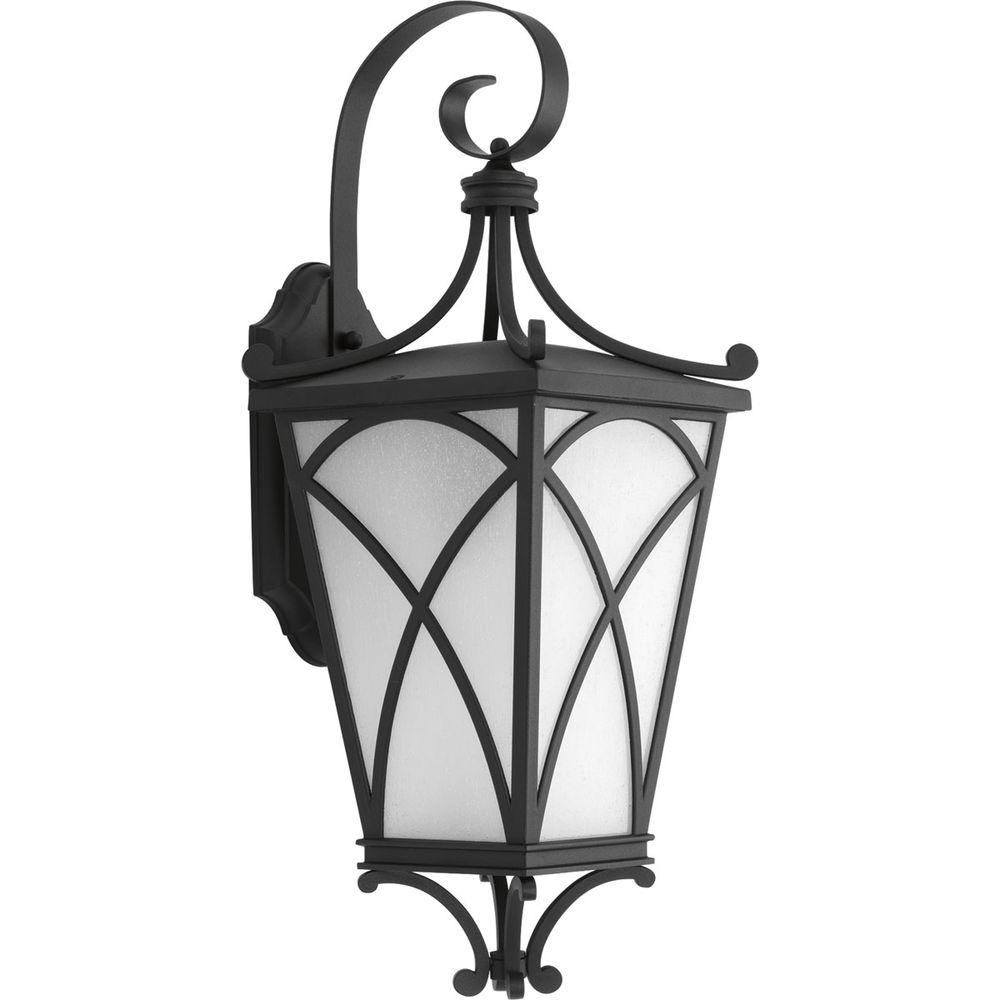 Progress Lighting Cadence Collection 1 Light Outdoor 8 Inch Black Wall Lantern