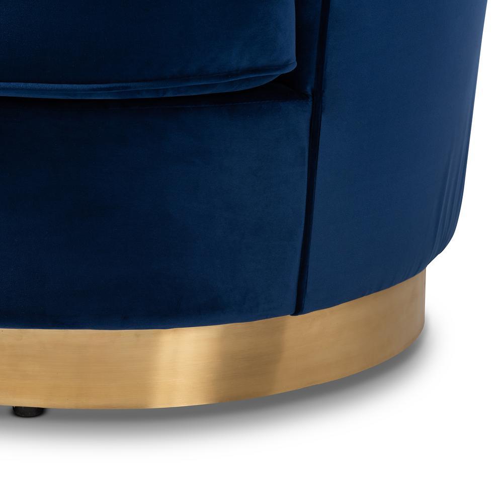 Astonishing Baxton Studio Nevena 1 Piece Royal Blue And Gold Fabric Sofa Pdpeps Interior Chair Design Pdpepsorg