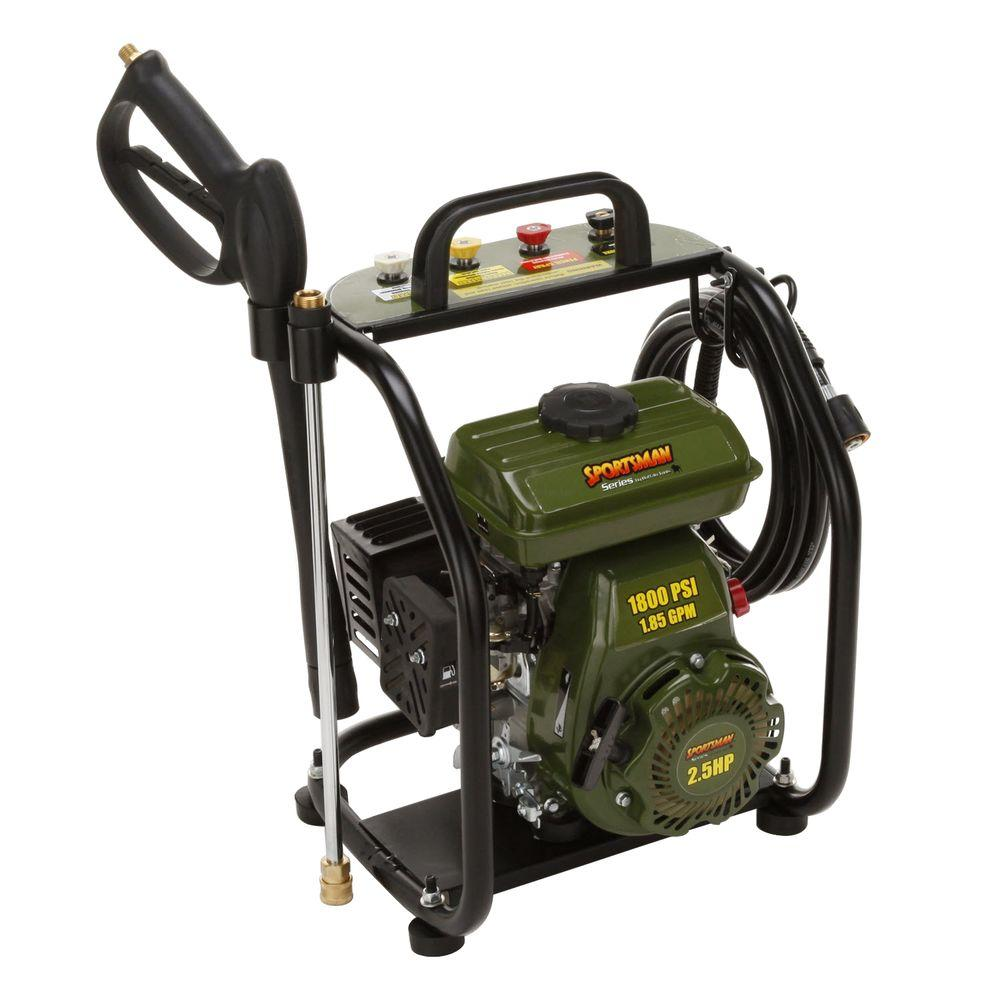 Sportsman 1800 psi 1.6 GPM Portable Pressure Washer-DISCONTINUED