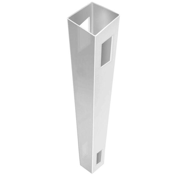 Linden 5 in. x 5 in. x 9 ft. White Vinyl Routed Fence Line Post
