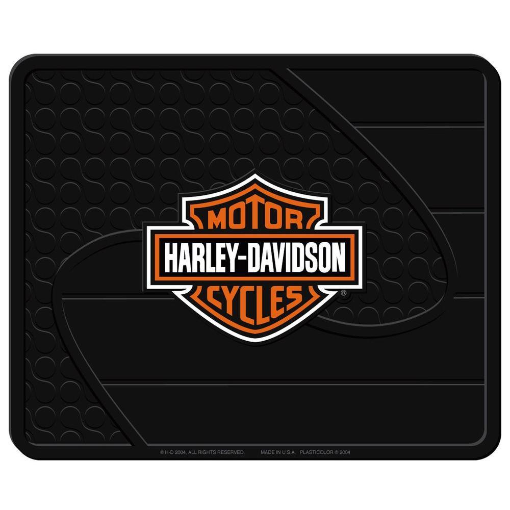 Harley Davidson Heavy Duty Vinyl 17 in. x 14 in. Utility Car Mat