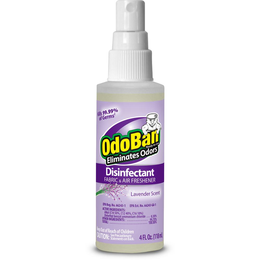 OdoBan OdoBan 4 oz. Lavender Disinfectant, Fabric and Air Freshener, Mold and Mildew Control Multi-Purpose Spray, Purple