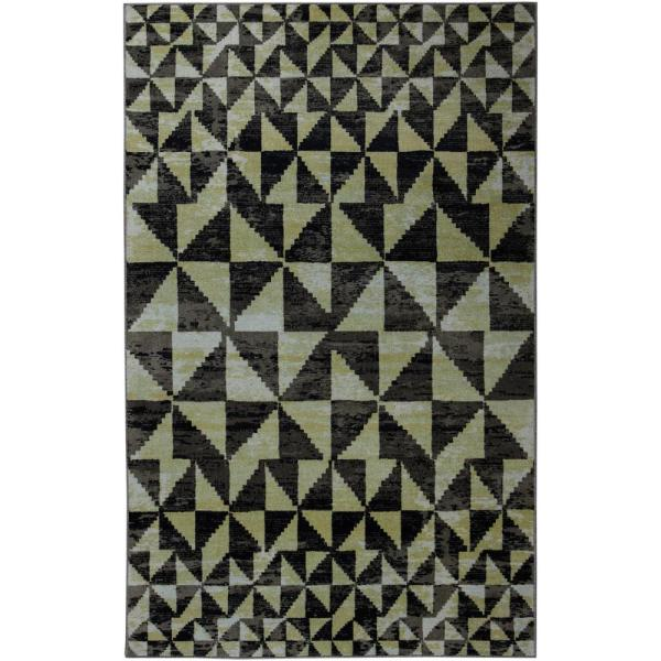 Orla Black 8 ft. x 10 ft. Geometric Area Rug