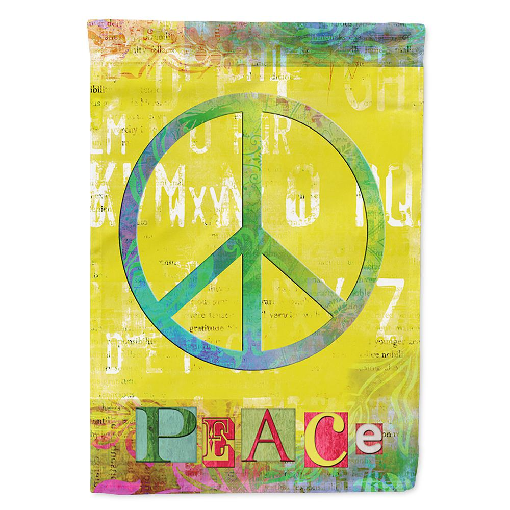 Caroline S Treasures 28 In X 40 In Polyester Artsy Peace Flag Canvas House Size 2 Sided Heavyweight Sb3101chf The Home Depot