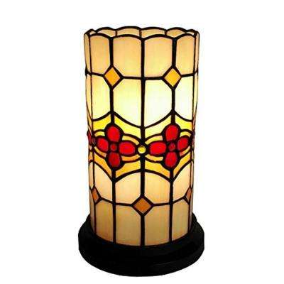 10 in. Tiffany Style Floral Mini Table Lamp