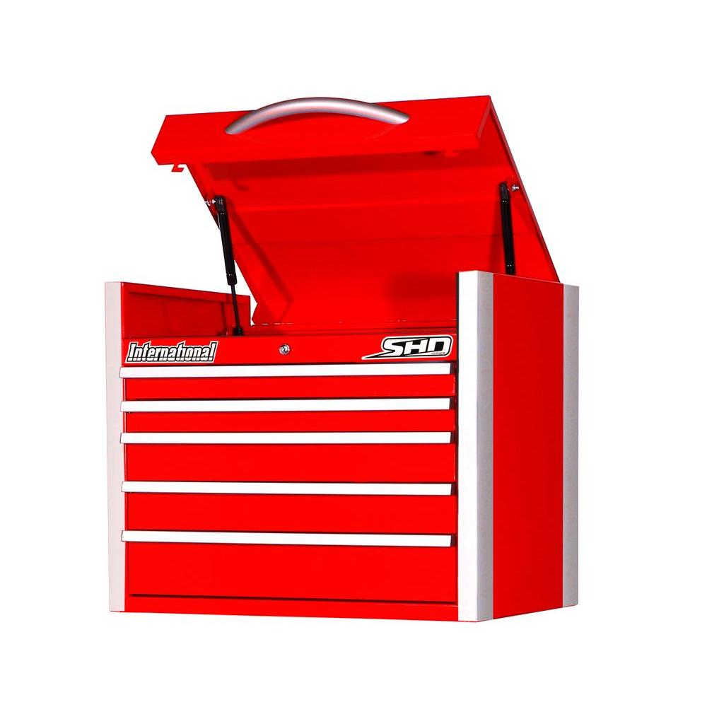 SHD Series 27 in. 5-Drawer Top Chest, Red