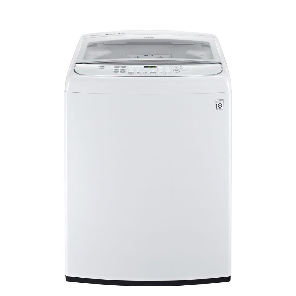 LG 4.9 cu. ft. High-Efficiency Top Load Washer with Steam...