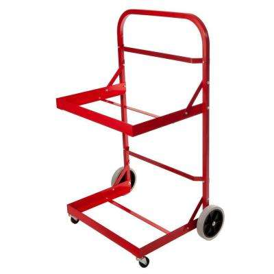 Aluminum Upper and Lower Tray 4-Wheeled Stainless Steel Hardware Recycle Caddy