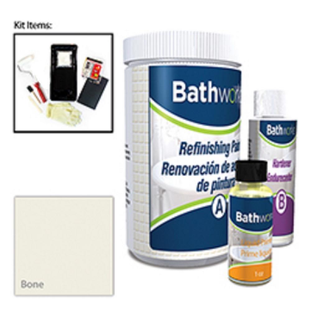 BATHWORKS 20 oz. DIY Bathtub Refinishing Kit- Bone