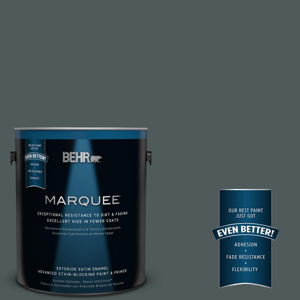 1-gal. #N440-7 Midnight in NY Satin Enamel Exterior Paint