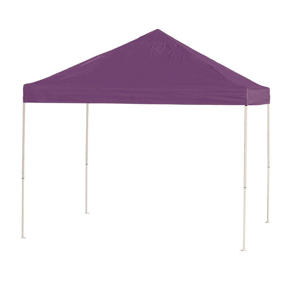 10 ft. x 10 ft. Purple Straight Leg Pop-Up Canopy  sc 1 st  The Home Depot & ShelterLogic 10 ft. x 10 ft. White Cover Commercial Alumi-Max Pop ...