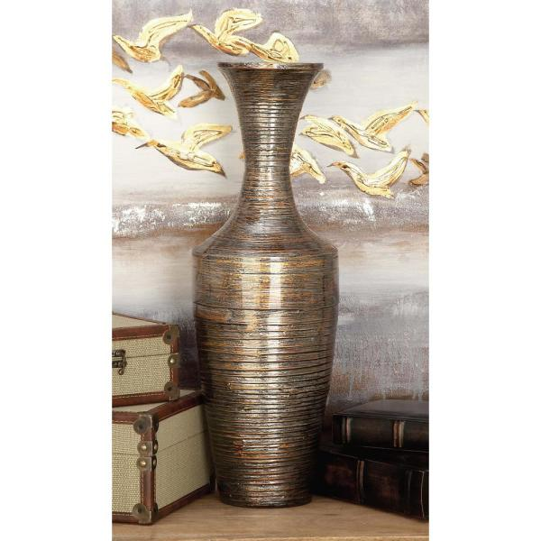 Lacquered Bamboo Decorative Vase