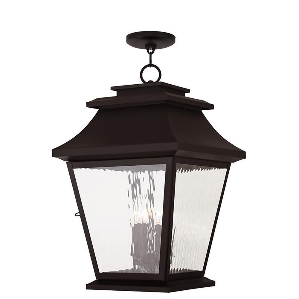 Hathaway Bronze 4-Light Outdoor Hanging Lantern