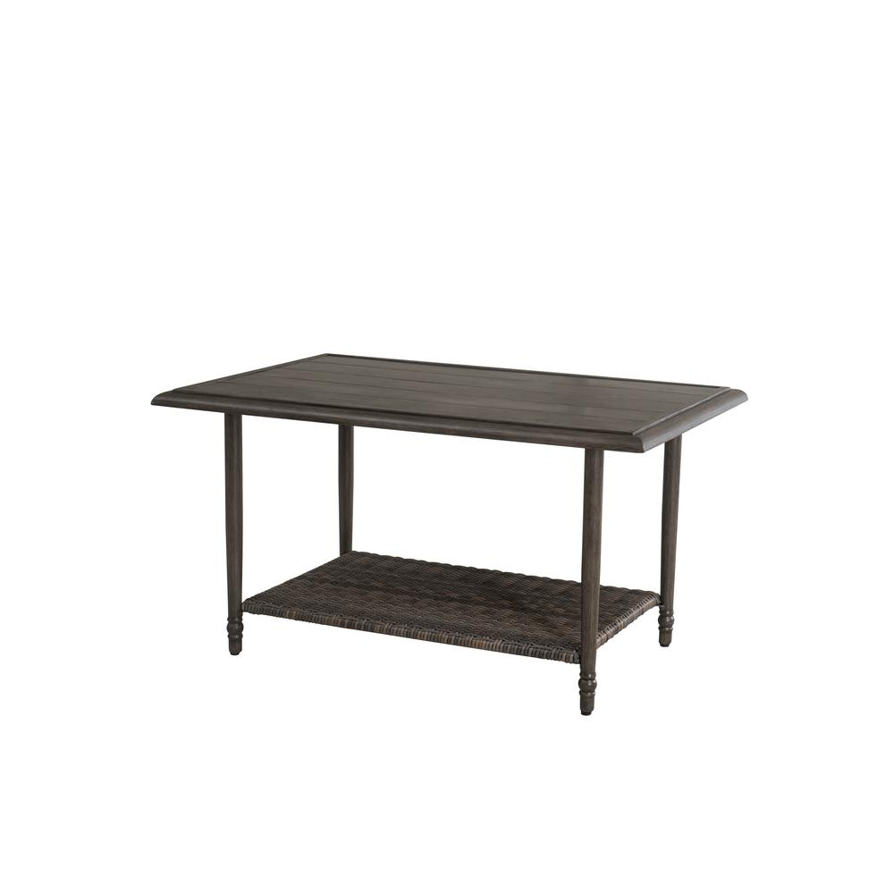 Hampton Bay Windsor Brown Steel Outdoor Coffee Table