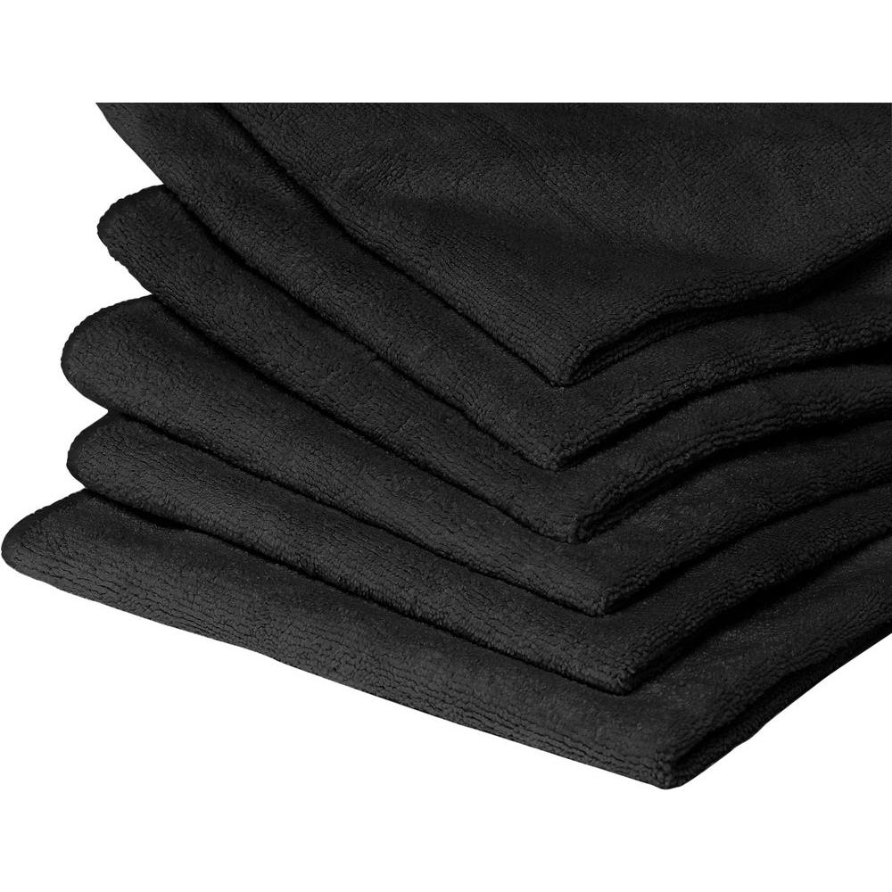 20 Microfiber Towels in Black