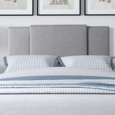 Fairfield Grey Padded Fabric Double/Queen/King Expandable Panel Headboard