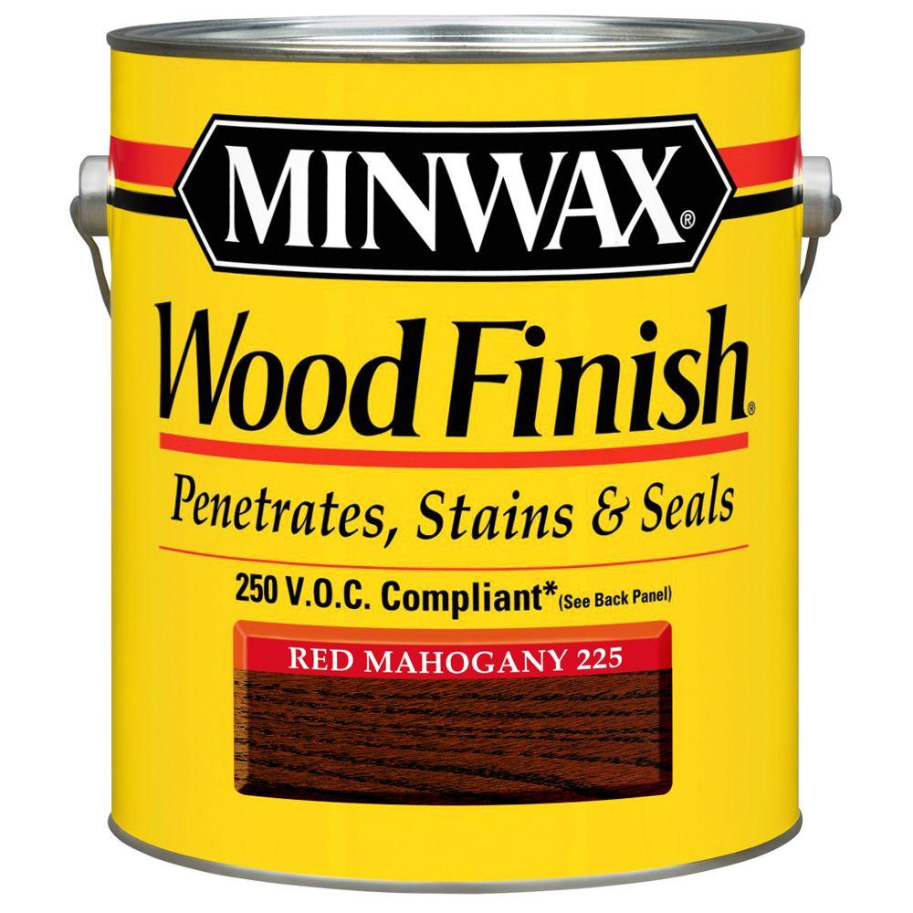 1 gal. Wood Finish Red Mahogany Oil Based Interior Stain 250