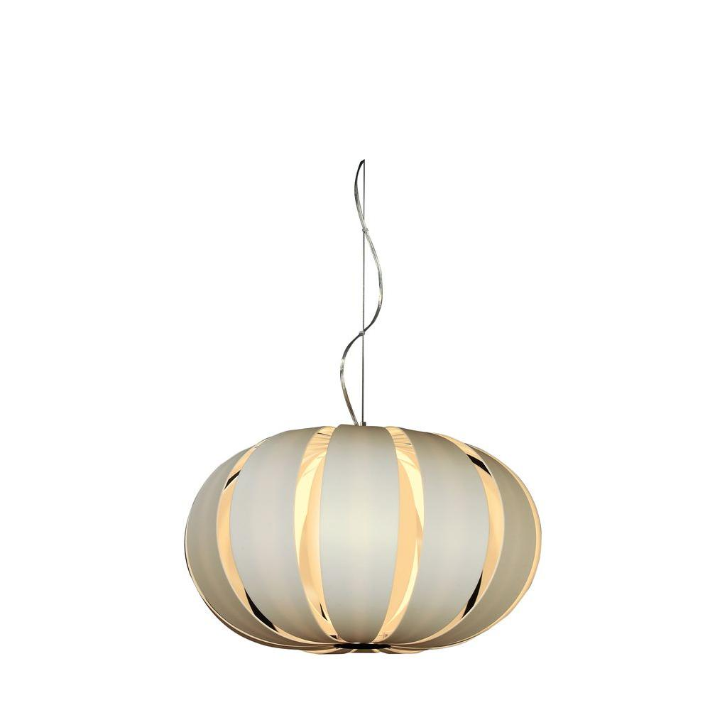 Filament Design Pique 1-Light Brushed Nickel Oval Pendant with White Petal Shade