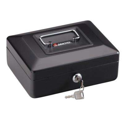 0.08 cu. ft. Steel Cash Box with Cash Tray