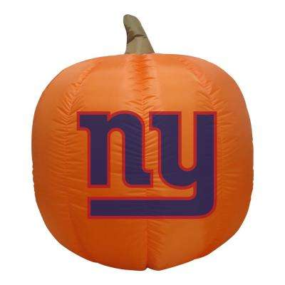 4 ft. New York Giants Inflatable Pumpkin