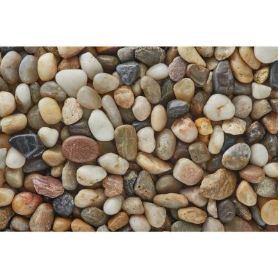 3/8 in. Polished Mixed Gravel (20 lbs. Bag)