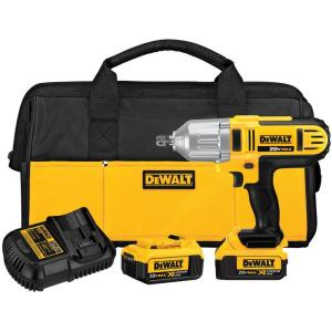 Dewalt 20-Volt MAX Lithium-Ion Cordless 1/2 inch Impact Wrench Kit with (2) Batteries 4Ah, Charger and Contractor Bag by DEWALT