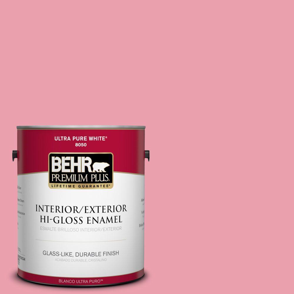 BEHR Premium Plus 1-gal. #P150-3 Pinque Hi-Gloss Enamel Interior/Exterior Paint