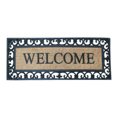 A1HC First Impression Spring Flowers Extra Thick Decorative 17.72 in. x 47.25 in. Coir Door Mat