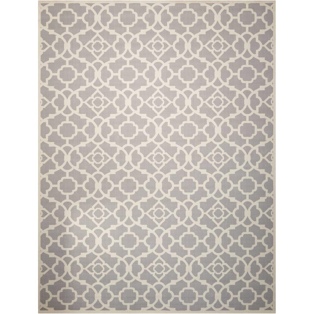Lovely Lattice Grey 8 ft. x 11 ft. Indoor/Outdoor Area Rug