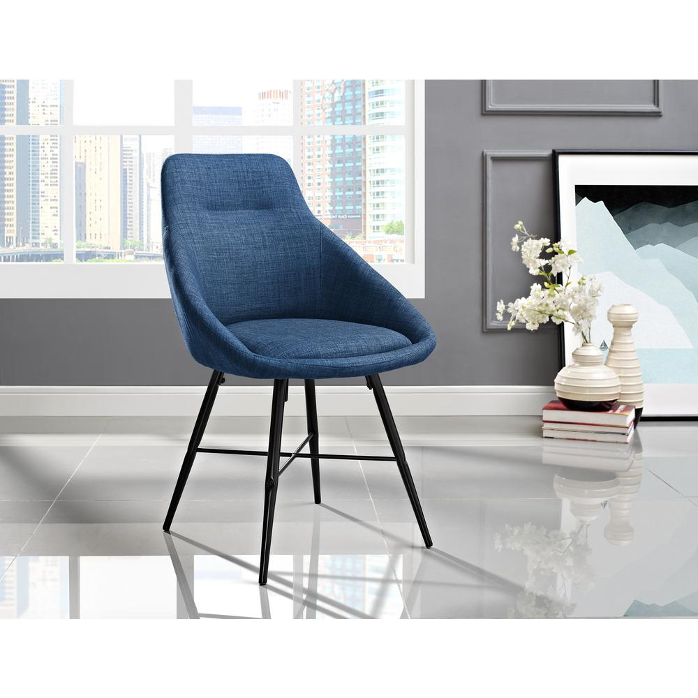 Walker Edison Furniture Company Blue Urban Upholstered Side Chair