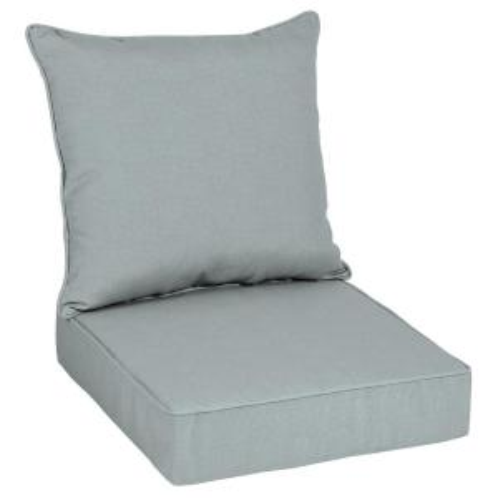 Oak Cliff 24 x 24 Sunbrella Cast Mist Deep Seating Outdoor Lounge Chair Cushion