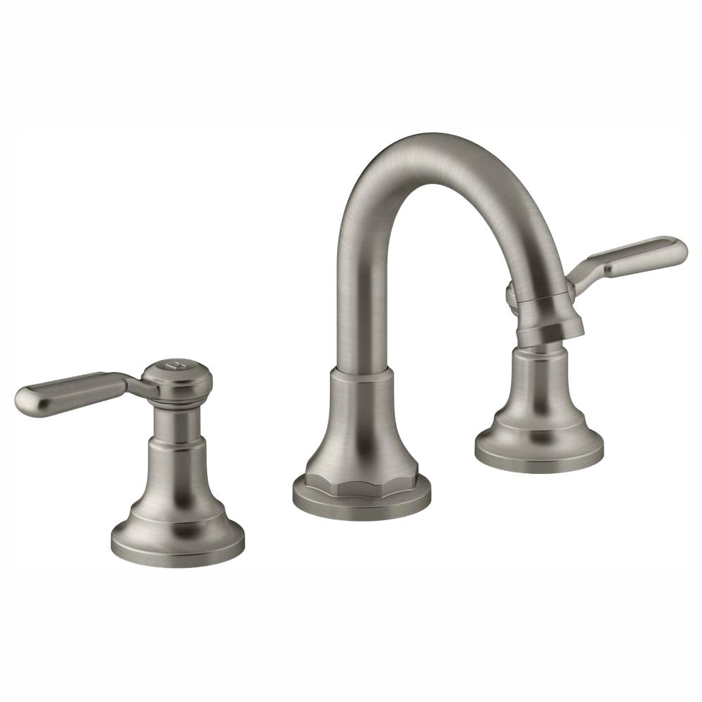 Sensational Kohler Worth 8 In Widespread 2 Handle Bathroom Faucet In Vibrant Brushed Nickel Interior Design Ideas Gresisoteloinfo