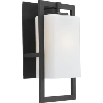 Jack Collection 1-Light Black 15.25 in. Outdoor Wall Lantern Sconce